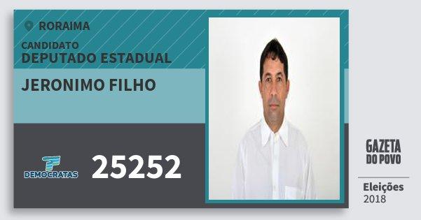 Santinho Jeronimo Filho 25252 (DEM) Deputado Estadual | Roraima | Eleições 2018