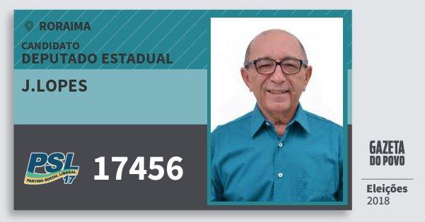 Santinho J.lopes 17456 (PSL) Deputado Estadual | Roraima | Eleições 2018