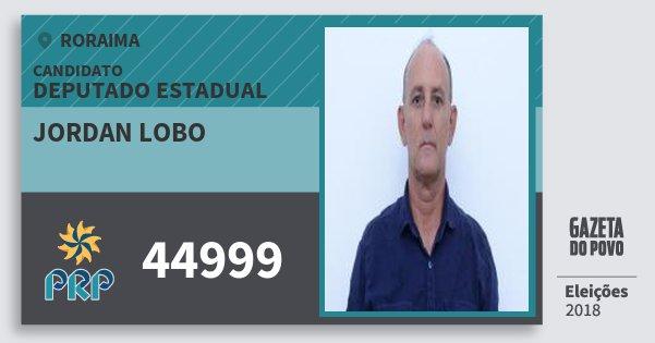 Santinho Jordan Lobo 44999 (PRP) Deputado Estadual | Roraima | Eleições 2018