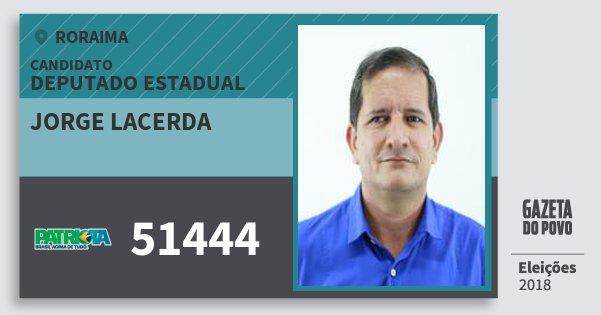 Santinho Jorge Lacerda 51444 (PATRI) Deputado Estadual | Roraima | Eleições 2018