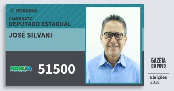Santinho José Silvani 51500 (PATRI) Deputado Estadual | Roraima | Eleições 2018