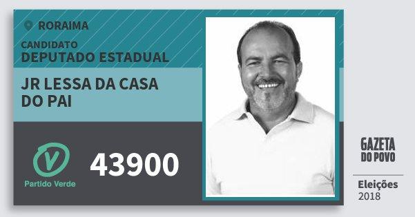 Santinho Jr Lessa da Casa do Pai 43900 (PV) Deputado Estadual | Roraima | Eleições 2018