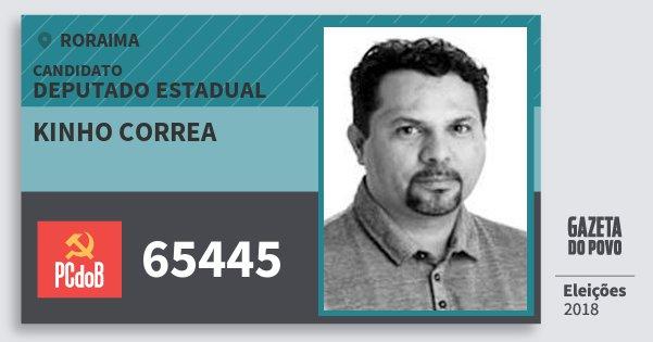 Santinho Kinho Correa 65445 (PC do B) Deputado Estadual | Roraima | Eleições 2018