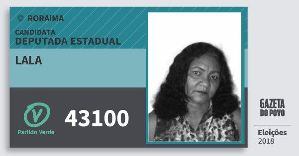 Santinho Lala 43100 (PV) Deputada Estadual | Roraima | Eleições 2018