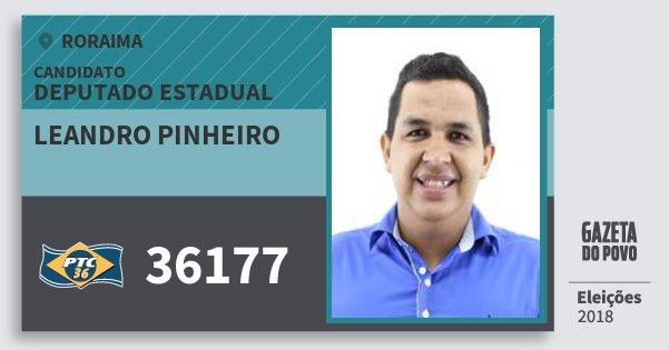 Santinho Leandro Pinheiro 36177 (PTC) Deputado Estadual | Roraima | Eleições 2018