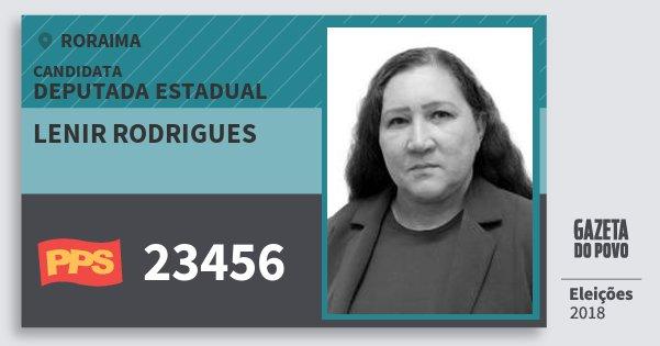 Santinho Lenir Rodrigues 23456 (PPS) Deputada Estadual | Roraima | Eleições 2018