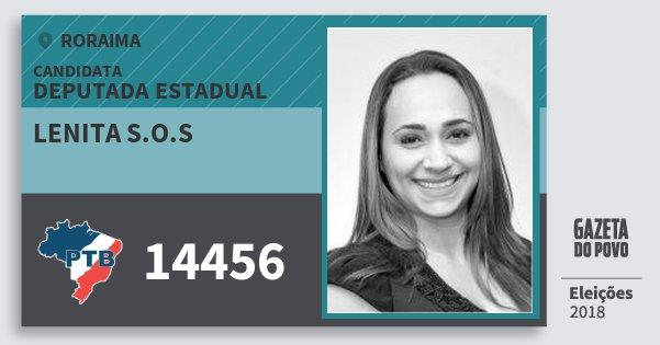 Santinho Lenita S.o.s 14456 (PTB) Deputada Estadual | Roraima | Eleições 2018