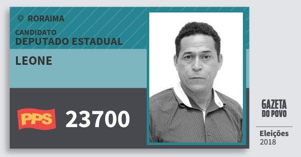 Santinho Leone 23700 (PPS) Deputado Estadual | Roraima | Eleições 2018