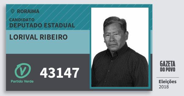 Santinho Lorival Ribeiro 43147 (PV) Deputado Estadual | Roraima | Eleições 2018