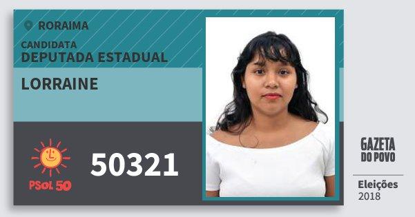 Santinho Lorraine 50321 (PSOL) Deputada Estadual | Roraima | Eleições 2018