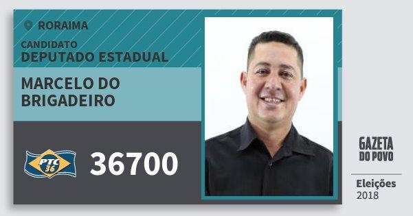 Santinho Marcelo do Brigadeiro 36700 (PTC) Deputado Estadual | Roraima | Eleições 2018