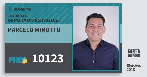 Santinho Marcelo Minotto 10123 (PRB) Deputado Estadual | Roraima | Eleições 2018