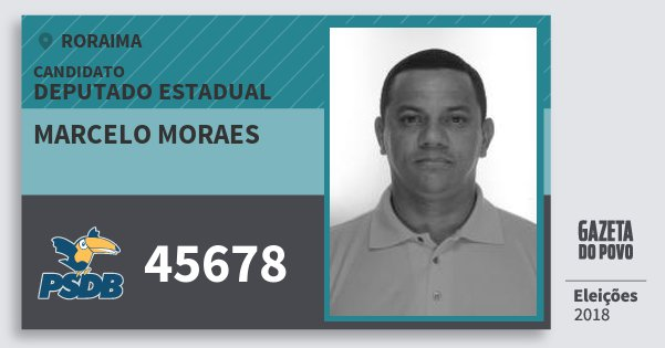 Santinho Marcelo Moraes 45678 (PSDB) Deputado Estadual | Roraima | Eleições 2018