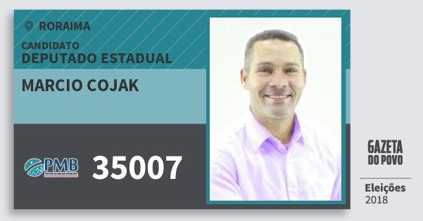 Santinho Marcio Cojak 35007 (PMB) Deputado Estadual | Roraima | Eleições 2018