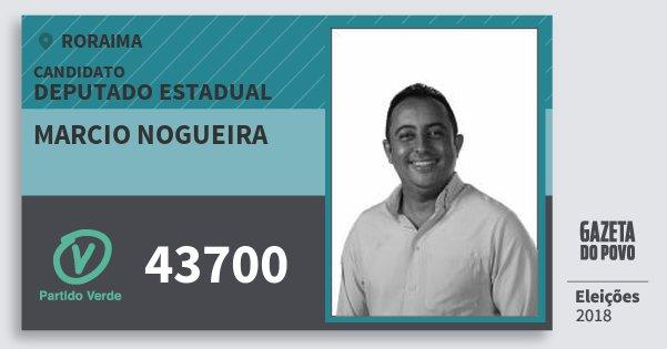 Santinho Marcio Nogueira 43700 (PV) Deputado Estadual | Roraima | Eleições 2018