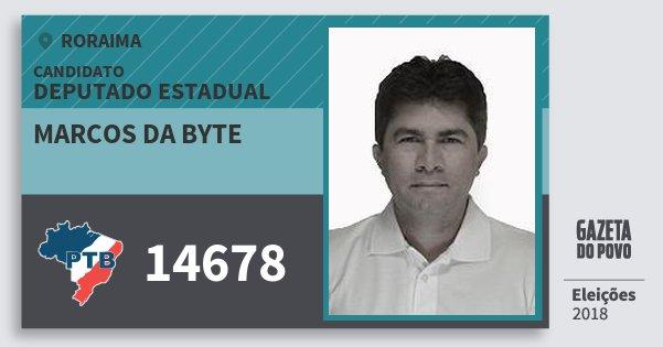 Santinho Marcos da Byte 14678 (PTB) Deputado Estadual | Roraima | Eleições 2018