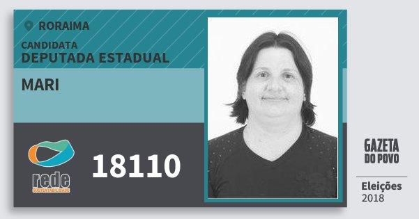 Santinho Mari 18110 (REDE) Deputada Estadual | Roraima | Eleições 2018