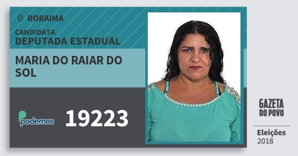 Santinho Maria do Raiar do Sol 19223 (PODE) Deputada Estadual | Roraima | Eleições 2018