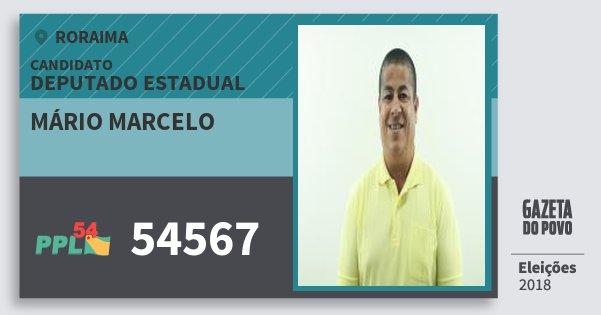 Santinho Mário Marcelo 54567 (PPL) Deputado Estadual | Roraima | Eleições 2018