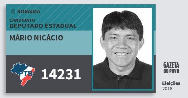 Santinho Mário Nicácio 14231 (PTB) Deputado Estadual | Roraima | Eleições 2018