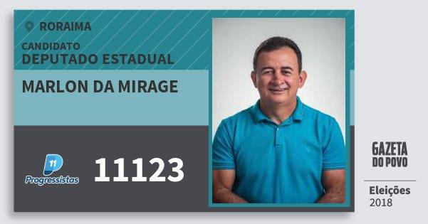 Santinho Marlon da Mirage 11123 (PP) Deputado Estadual | Roraima | Eleições 2018