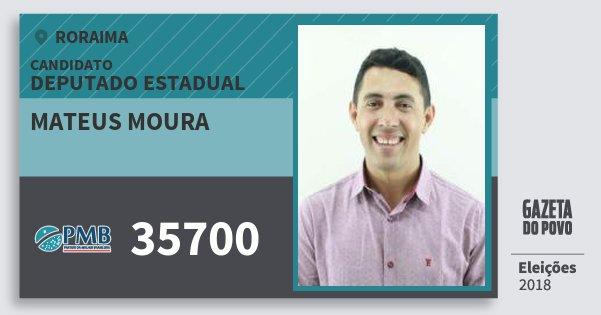 Santinho Mateus Moura 35700 (PMB) Deputado Estadual | Roraima | Eleições 2018