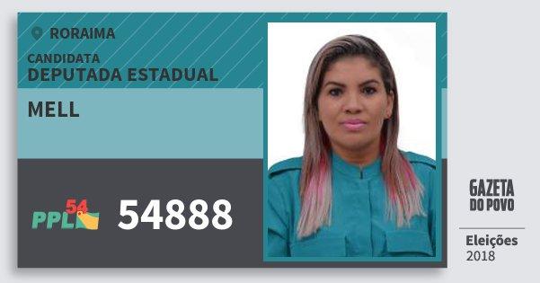 Santinho Mell 54888 (PPL) Deputada Estadual | Roraima | Eleições 2018
