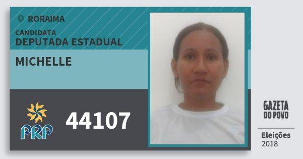 Santinho Michelle 44107 (PRP) Deputada Estadual | Roraima | Eleições 2018