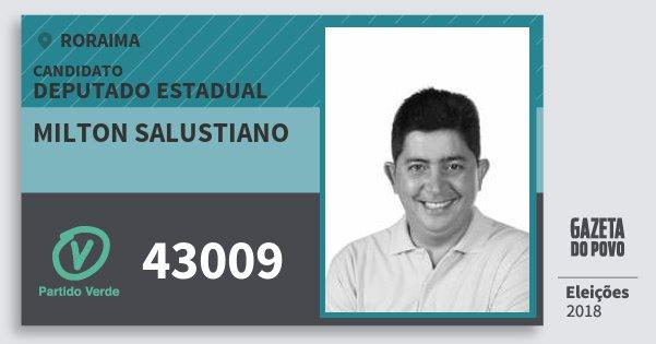 Santinho Milton Salustiano 43009 (PV) Deputado Estadual | Roraima | Eleições 2018