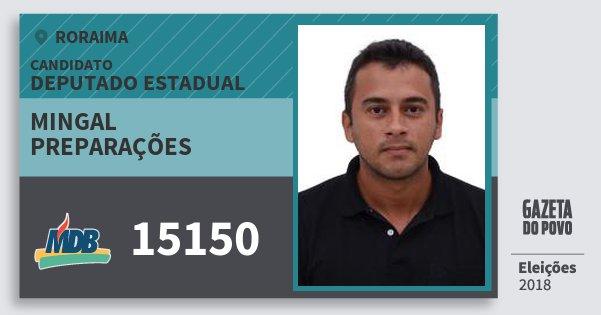 Santinho Mingal Preparações 15150 (MDB) Deputado Estadual | Roraima | Eleições 2018