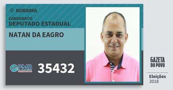 Santinho Natan da Eagro 35432 (PMB) Deputado Estadual | Roraima | Eleições 2018