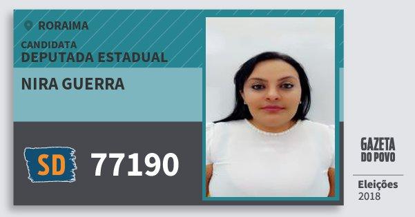 Santinho Nira Guerra 77190 (SOLIDARIEDADE) Deputada Estadual | Roraima | Eleições 2018