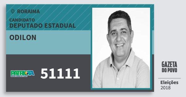 Santinho Odilon 51111 (PATRI) Deputado Estadual | Roraima | Eleições 2018