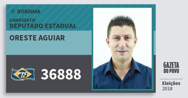 Santinho Oreste Aguiar 36888 (PTC) Deputado Estadual | Roraima | Eleições 2018
