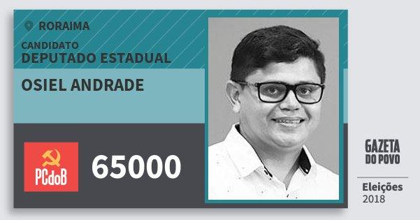 Santinho Osiel Andrade 65000 (PC do B) Deputado Estadual | Roraima | Eleições 2018