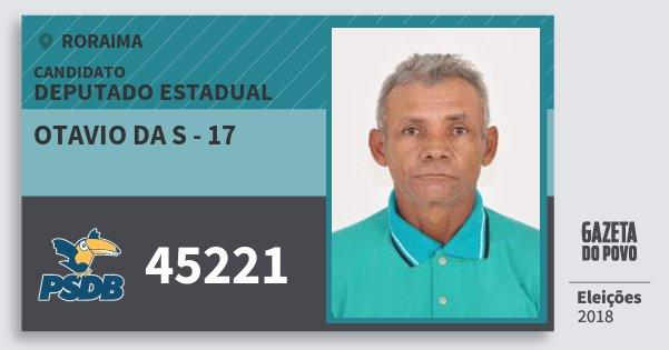 Santinho Otavio da S - 17 45221 (PSDB) Deputado Estadual | Roraima | Eleições 2018