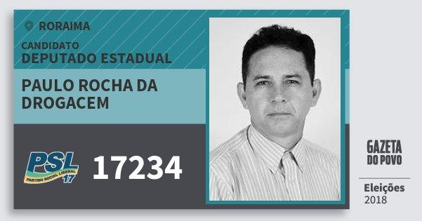 Santinho Paulo Rocha da Drogacem 17234 (PSL) Deputado Estadual | Roraima | Eleições 2018