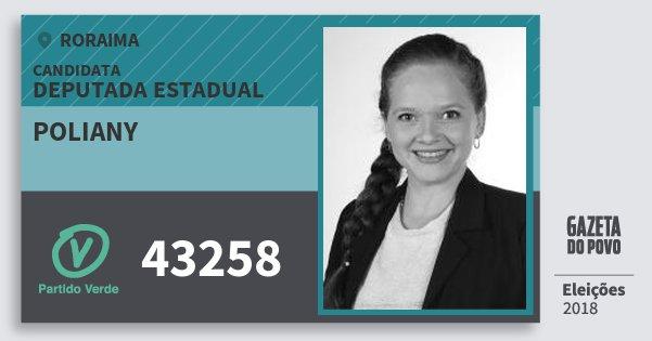 Santinho Poliany 43258 (PV) Deputada Estadual | Roraima | Eleições 2018