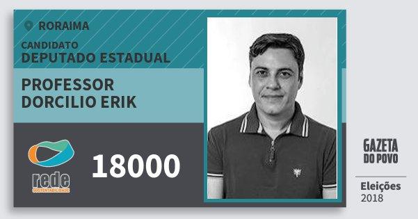 Santinho Professor Dorcilio Erik 18000 (REDE) Deputado Estadual | Roraima | Eleições 2018