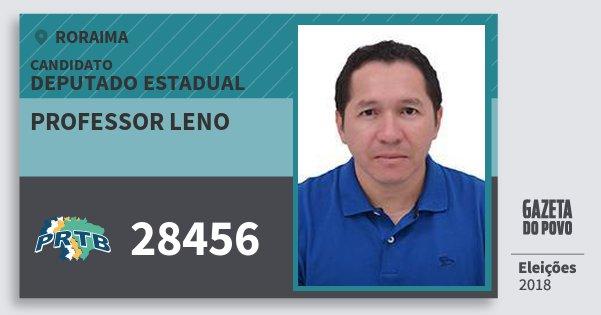 Santinho Professor Leno 28456 (PRTB) Deputado Estadual | Roraima | Eleições 2018