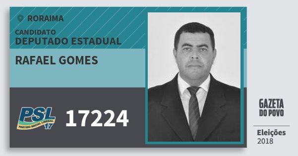 Santinho Rafael Gomes 17224 (PSL) Deputado Estadual | Roraima | Eleições 2018