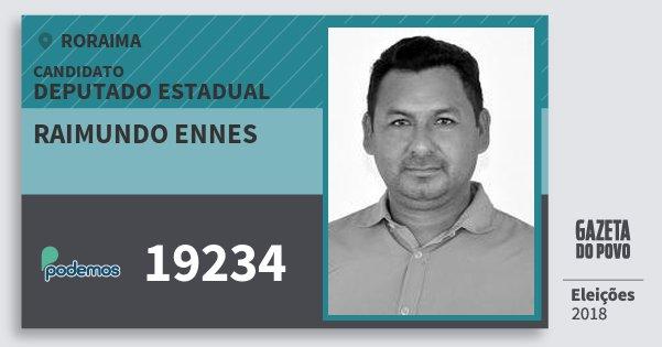 Santinho Raimundo Ennes 19234 (PODE) Deputado Estadual | Roraima | Eleições 2018