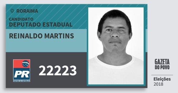 Santinho Reinaldo Martins 22223 (PR) Deputado Estadual | Roraima | Eleições 2018