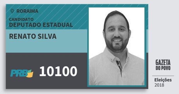 Santinho Renato Silva 10100 (PRB) Deputado Estadual | Roraima | Eleições 2018