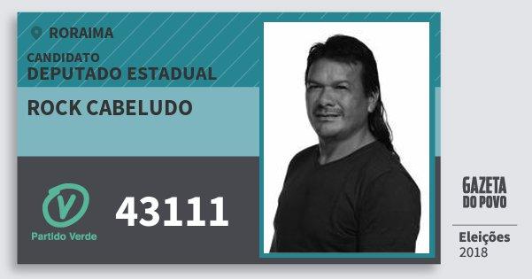Santinho Rock Cabeludo 43111 (PV) Deputado Estadual | Roraima | Eleições 2018