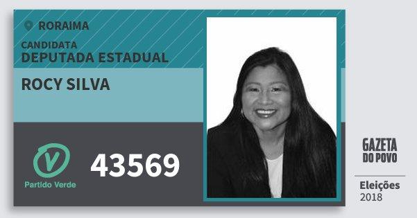 Santinho Rocy Silva 43569 (PV) Deputada Estadual | Roraima | Eleições 2018