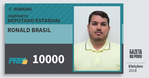 Santinho Ronald Brasil 10000 (PRB) Deputado Estadual | Roraima | Eleições 2018