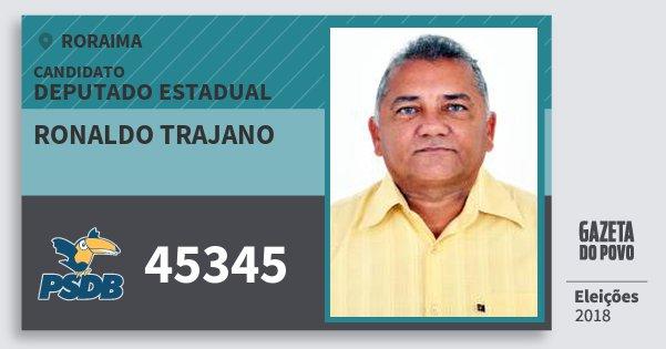 Santinho Ronaldo Trajano 45345 (PSDB) Deputado Estadual | Roraima | Eleições 2018