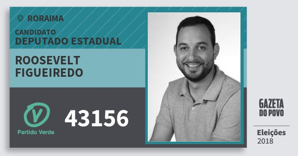 Santinho Roosevelt Figueiredo 43156 (PV) Deputado Estadual | Roraima | Eleições 2018