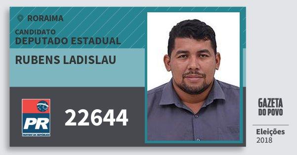 Santinho Rubens Ladislau 22644 (PR) Deputado Estadual | Roraima | Eleições 2018